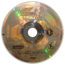 Artwork on the CD for Virtua Striker 2 Ver. 2000 on the Sega Dreamcast.