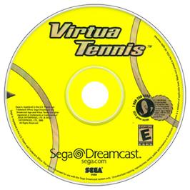 Artwork on the CD for Virtua Tennis on the Sega Dreamcast.