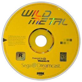 Artwork on the CD for Wild Metal on the Sega Dreamcast.