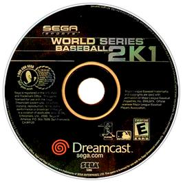 Artwork on the CD for World Series Baseball 2K1 on the Sega Dreamcast.