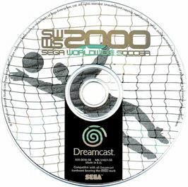 Artwork on the CD for Worldwide Soccer 2000: Euro Edition on the Sega Dreamcast.
