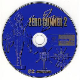 Artwork on the CD for Zero Gunner 2 on the Sega Dreamcast.