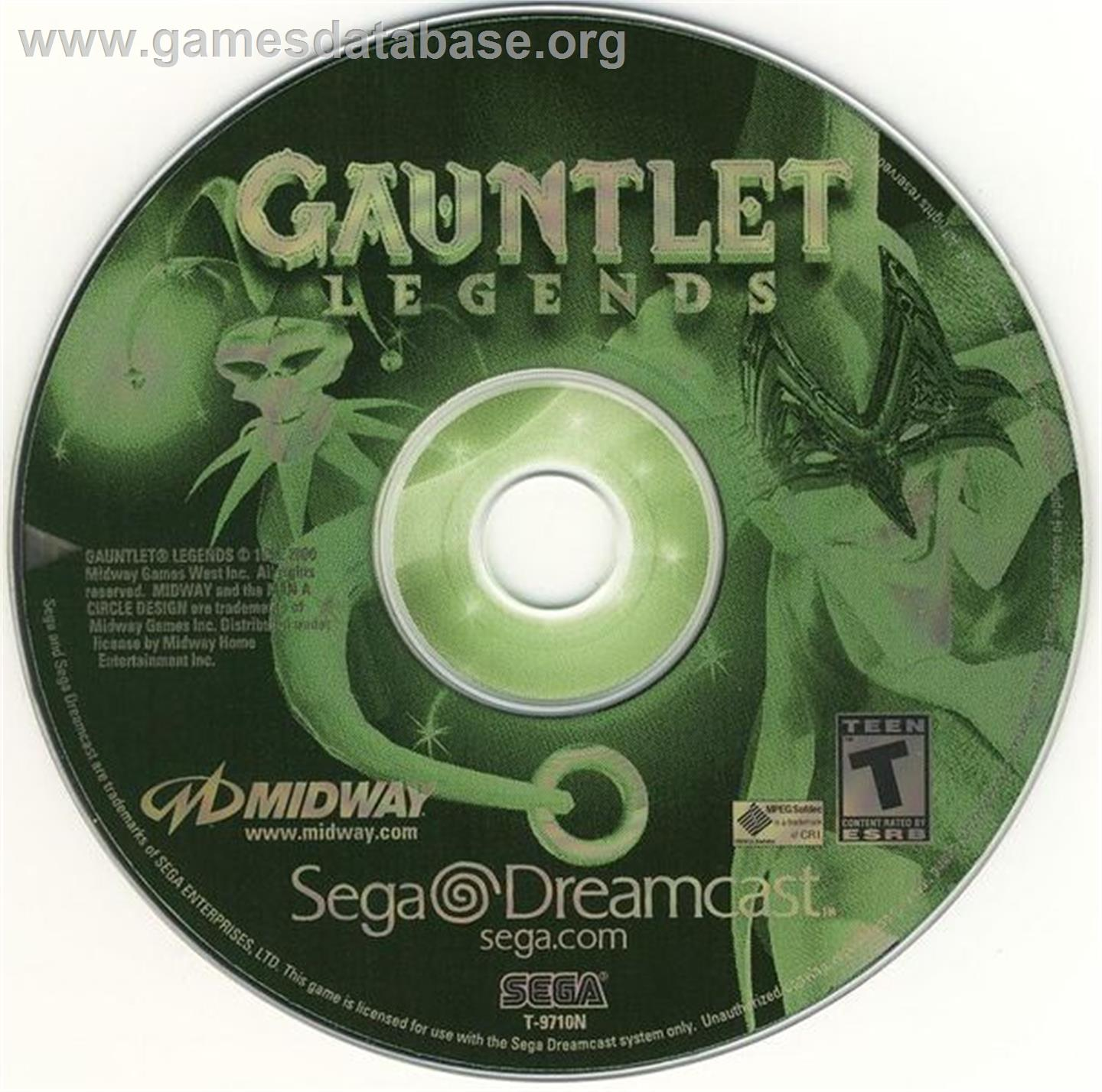 Gauntlet Legends - Sega Dreamcast - Artwork - CD