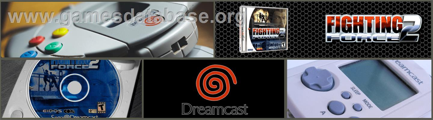 Fighting Force 2 - Sega Dreamcast - Artwork - Marquee