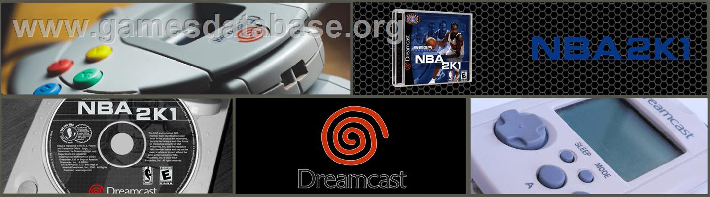 NBA 2K1 - Sega Dreamcast - Artwork - Marquee