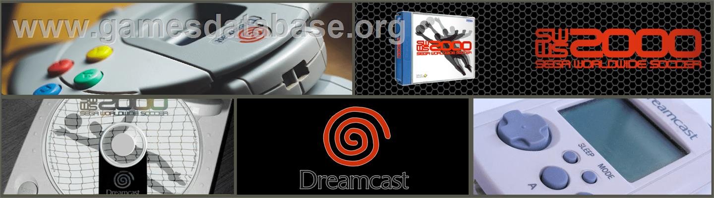 Worldwide Soccer 2000: Euro Edition - Sega Dreamcast - Artwork - Marquee