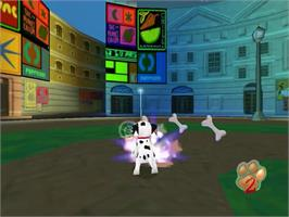 In game image of 102 Dalmatians: Puppies to the Rescue on the Sega Dreamcast.