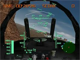 In game image of Aerowings on the Sega Dreamcast.