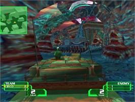 In game image of Alien Front Online on the Sega Dreamcast.