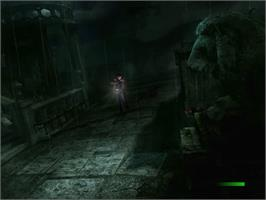 In game image of Alone in the Dark: The New Nightmare on the Sega Dreamcast.
