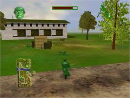 In game image of Army Men: Sarge's Heroes on the Sega Dreamcast.
