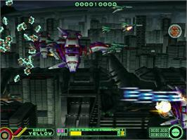 In game image of Border Down on the Sega Dreamcast.
