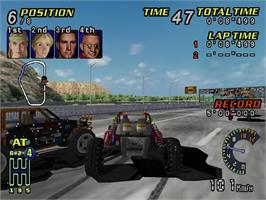 In game image of Buggy Heat on the Sega Dreamcast.