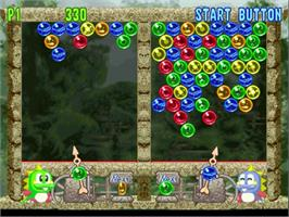In game image of Bust a Move 4 on the Sega Dreamcast.