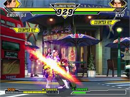 In game image of Capcom vs. SNK 2: Mark of the Millennium on the Sega Dreamcast.