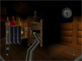 In game image of Chicken Run on the Sega Dreamcast.