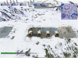 In game image of Conflict Zone: Modern War Strategy on the Sega Dreamcast.