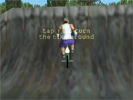 In game image of Dave Mirra Freestyle BMX on the Sega Dreamcast.