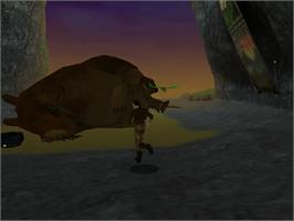 In game image of Dragonriders: Chronicles of Pern on the Sega Dreamcast.