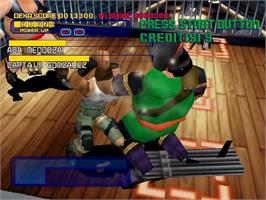 In game image of Dynamite Cop on the Sega Dreamcast.