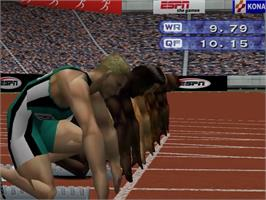 In game image of ESPN International Track & Field on the Sega Dreamcast.