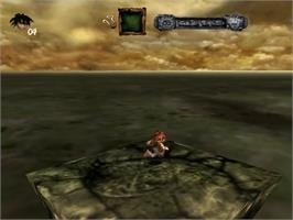 In game image of Evil Twin: Cyprien's Chronicles on the Sega Dreamcast.