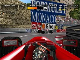 In game image of F1 World Grand Prix on the Sega Dreamcast.