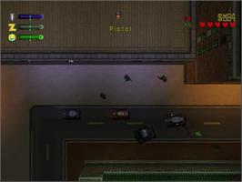 In game image of Grand Theft Auto 2 on the Sega Dreamcast.