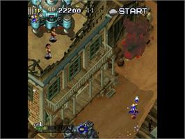In game image of Gunbird 2 on the Sega Dreamcast.
