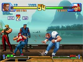 In game image of King of Fighters: Dream Match 1999 on the Sega Dreamcast.