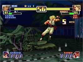 In game image of King of Fighters '99 - Millenium Battle, The on the Sega Dreamcast.