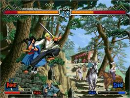 In game image of Last Blade 2: Heart of the Samurai on the Sega Dreamcast.