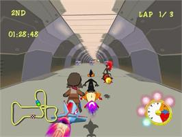 In game image of Looney Tunes Space Race on the Sega Dreamcast.