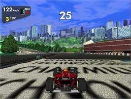 In game image of Monaco Grand Prix on the Sega Dreamcast.