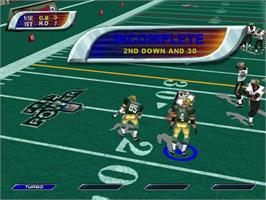 In game image of NFL Blitz 2001 on the Sega Dreamcast.