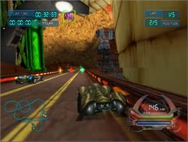 In game image of POD SpeedZone on the Sega Dreamcast.