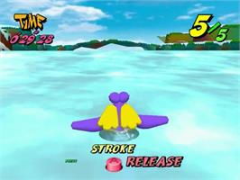 In game image of Pen Pen Tri-Icelon on the Sega Dreamcast.