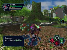 In game image of Phantasy Star Online Ver. 2 on the Sega Dreamcast.