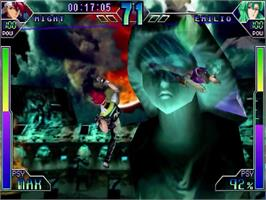 In game image of Psychic Force 2012 on the Sega Dreamcast.