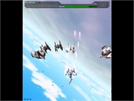 In game image of Psyvariar 2: The Will to Fabricate on the Sega Dreamcast.