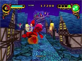 In game image of Rainbow Cotton on the Sega Dreamcast.