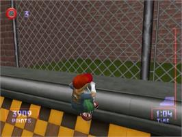 In game image of Razor Freestyle Scooter on the Sega Dreamcast.
