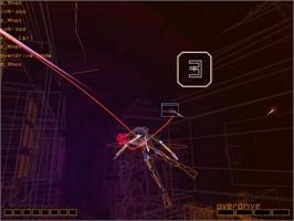 In game image of Rez on the Sega Dreamcast.