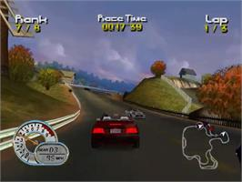 In game image of Roadsters on the Sega Dreamcast.