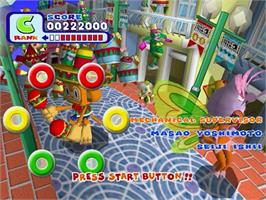 In game image of Samba De Amigo on the Sega Dreamcast.