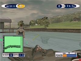 In game image of Sega Bass Fishing 2 on the Sega Dreamcast.