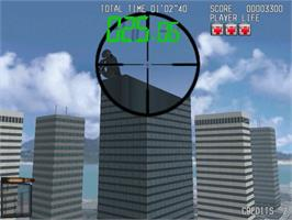 In game image of Silent Scope on the Sega Dreamcast.