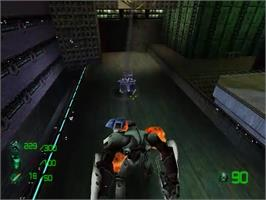 In game image of Slave Zero on the Sega Dreamcast.