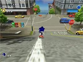 In game image of Sonic Adventure 2 on the Sega Dreamcast.