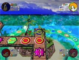 In game image of Sonic Shuffle on the Sega Dreamcast.